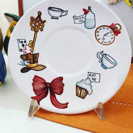 piattino di ceramica Alice nel paese delle meraviglie