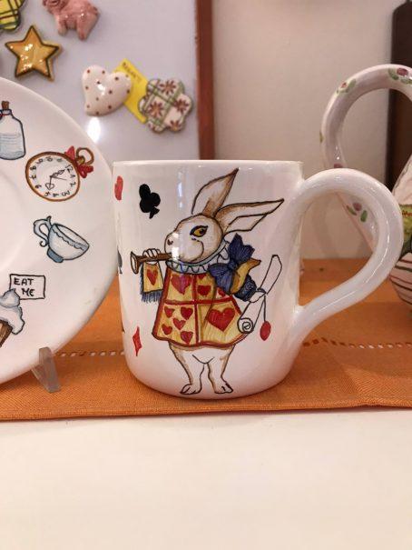 tazza di ceramica Alice nel paese delle meraviglie