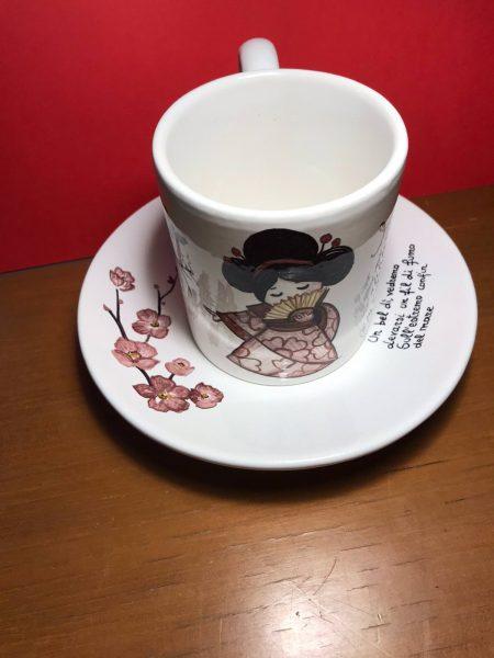 tazza di ceramica giapponesine