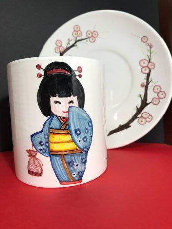 Tazza in ceramica Giapponesine – Fiore di Loto