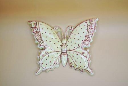farfalla in ceramica pois