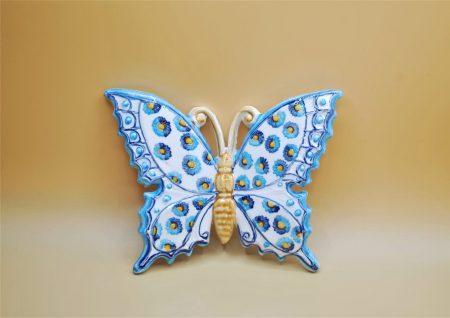 farfalla piccola ceramica blu