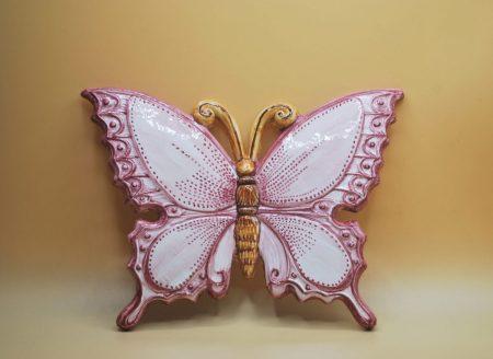 farfalla rosa ceramica grande