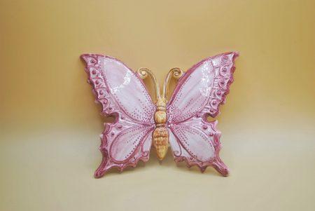 farfalla piccola rosa ceramica
