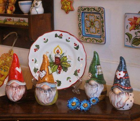 gnomi in ceramica