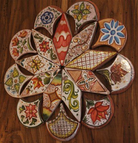 rosone antico ceramica artigianale