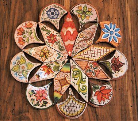rosone antico in ceramica