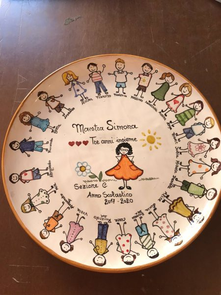 piatto regalo in ceramica