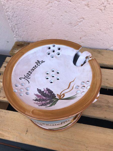 porta mozzarella in ceramica
